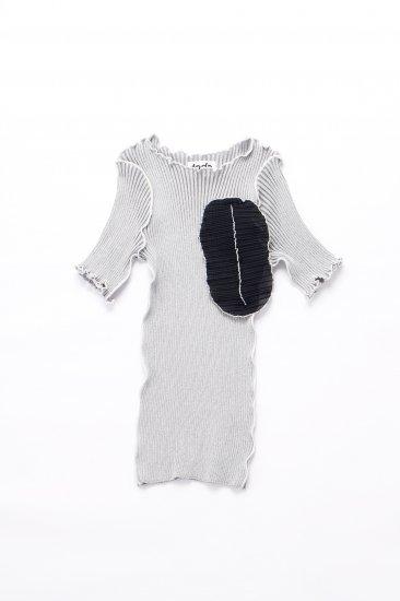 kotohayokozawa / short sleeve rib knit/gray