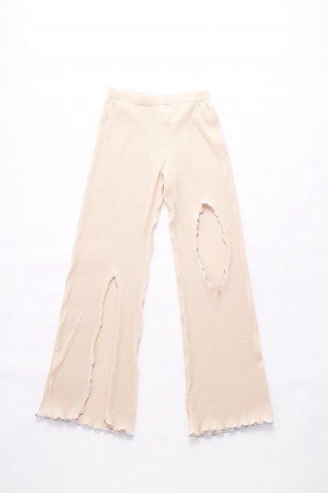 kotohayokozawa / pleats pants/beige