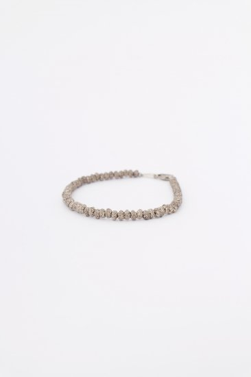 TABOO / Brain beads bracelet / Silver