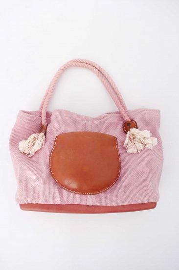eatable many orders / Soft Sashiko Tote bag / pink