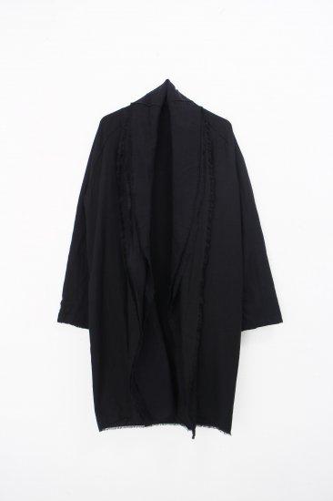 MITTAN / 三重織綿絹毛麻ジャケット / 黒がさね