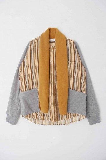 POTTO / custom shirts /brown border