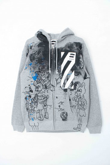 s.project / painting hoodie / gray