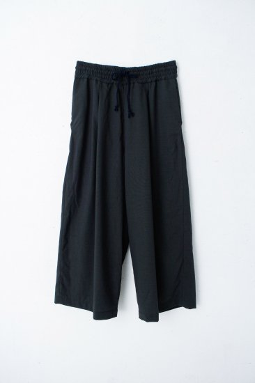 YANTOR / Torowool  straight wide slacks/green