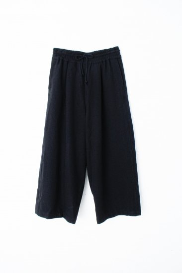 YANTOR / stone nap straight wide slacks / black