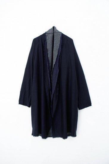 MITTAN / 三重織綿絹毛麻ジャケット / 紺がさね
