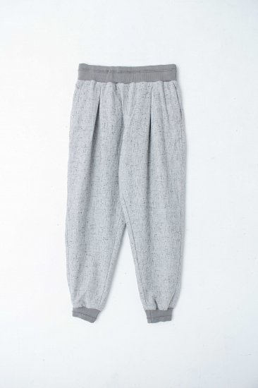 YANTOR / Stone Nep Cotton Rib Pants /wh