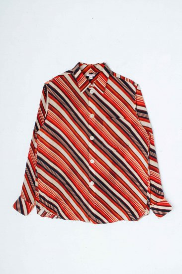 MASU/ VASE PATTERN SHIRTS / FADED ORANGE