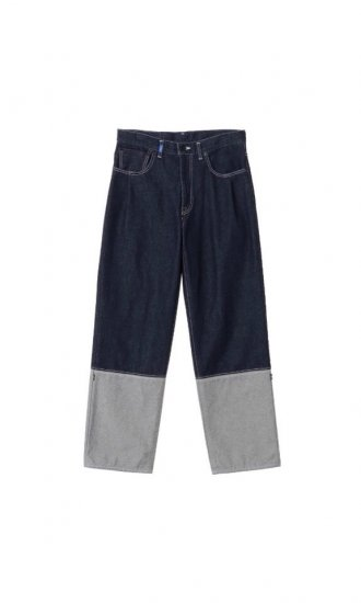 kudos / 2TONE DENIM PANTS / indigo