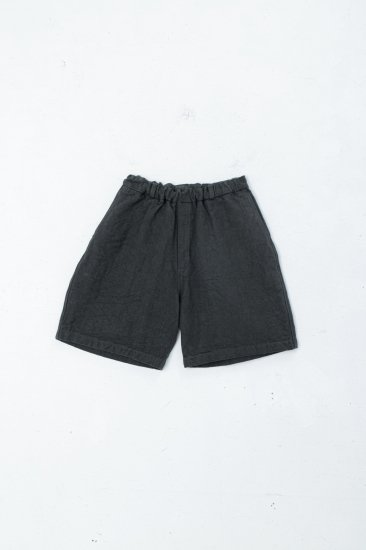 MITTAN / 亜麻苧麻ショート /濃緑