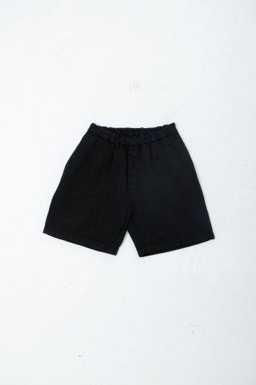 MITTAN / 亜麻苧麻ショート /黒