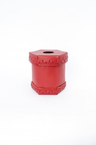 eatable of many orders / Toilet Roll Leather Box / red