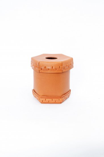eatable of many orders / Toilet Roll Leather Box / camel