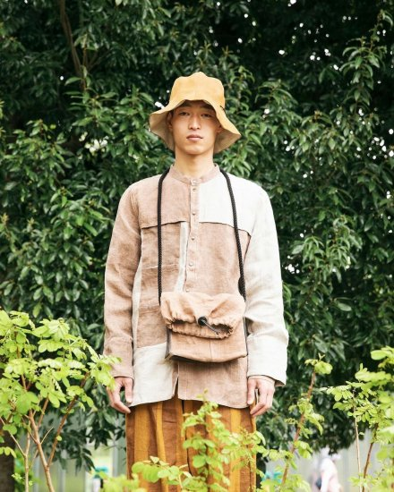 eatable of many orders / M. EUSOCILIAITY SHIRTS / NATURAL×柿渋<br>※受注商品の為、備考欄を必ずご確認ください。