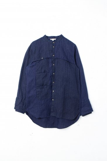 eatable of many orders / M. EUSOCILIAITY SHIRTS / NAVY×柿渋<br>※受注商品の為、備考欄を必ずご確認ください。