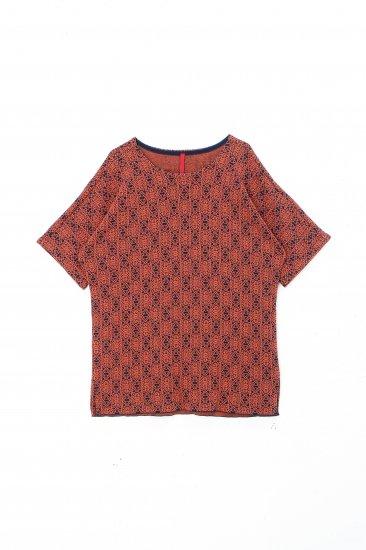 YANTOR / 14G Islamic Jacquard Dolman Knit  / orange