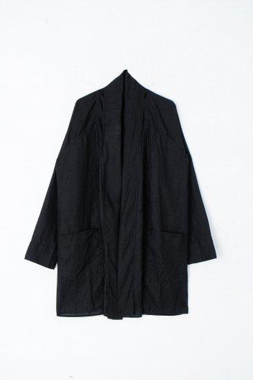 MITTAN / 大麻羽織シャツ / 黒