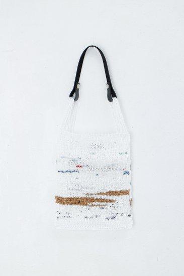 beta post /   Reuse Plastic Hand Knit Bag  /  編み込みバック