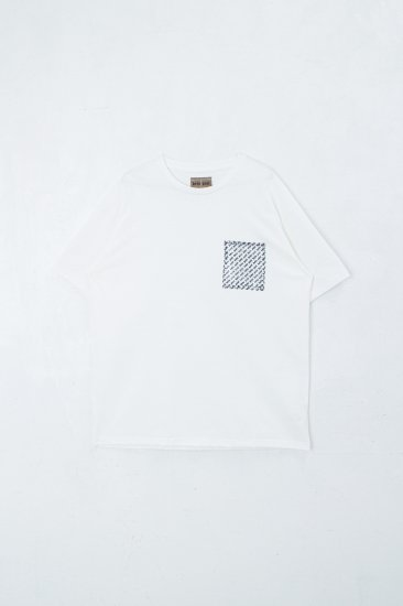 beta post / Confidential Pocket T-shirt  tee /white