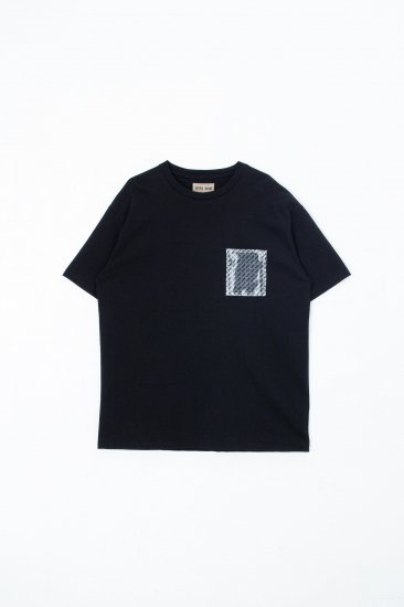 beta post / Confidential Pocket T-shirt  tee /black