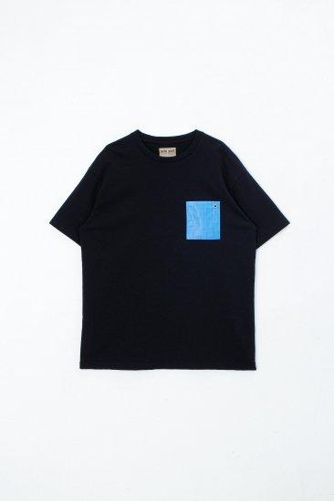 beta post /  Blue Sheet Pocket T-Shirts tee/black