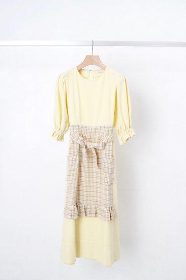 futatsukukuri / サロンワンピース/yellow