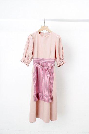 futatsukukuri / サロンワンピース/pink