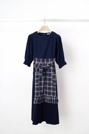 futatsukukuri / サロンワンピース/navy