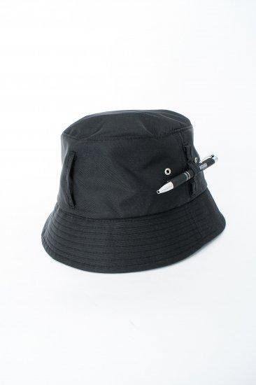 HIDAKA / Dad bucket hat (nylon)/ black