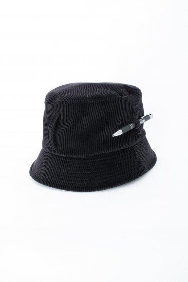 HIDAKA / Dad bucket hat (corduroy)/ black