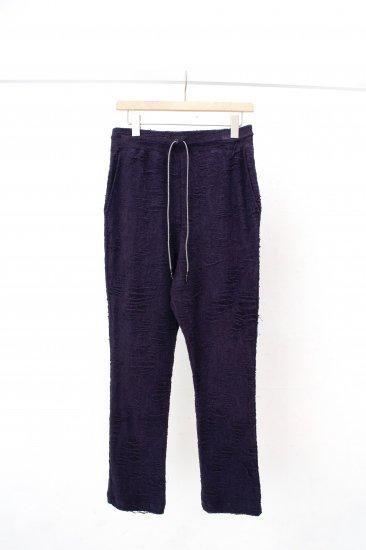 HATRA / Noise Pile Pants / navy