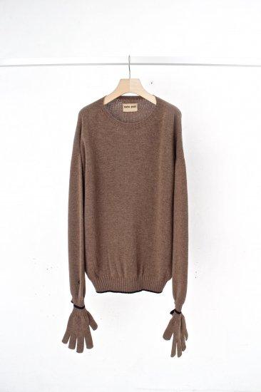 beta post /  work glove sweater / beige