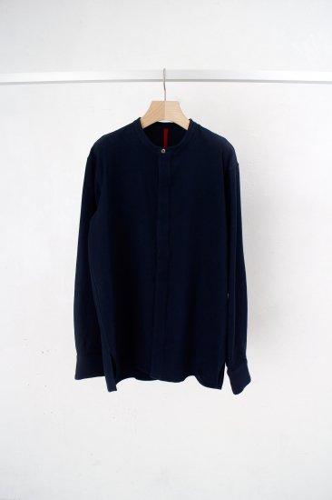YANTOR / 6ply khadi flyfront shirts /navy