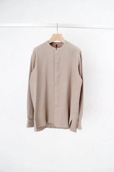 YANTOR / 6ply khadi flyfront shirts /beige