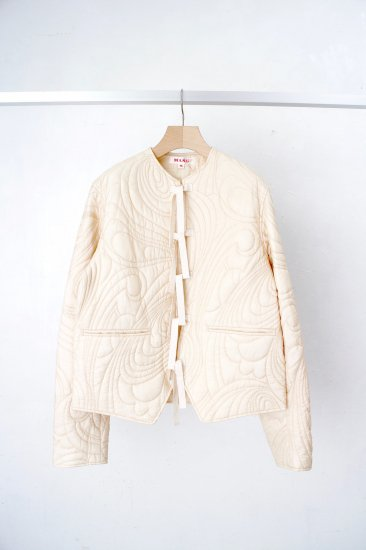 MASU/ PSYCCHEDELIC QUILTING BLOUSON /Champagne