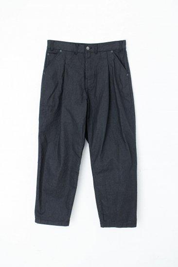 YANTOR / sumi-coating indigo denim pants