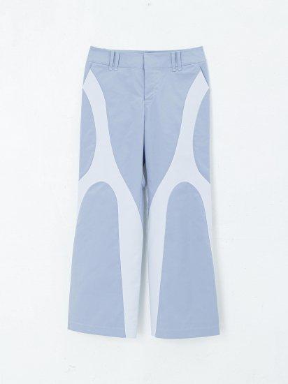 chloma / chromosome  3pcket pants /カームブルー×アイスグレイ