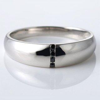 メンズ リング ブラック キュービックジルコニア シルバー シンプル 指輪 sv925 男性用