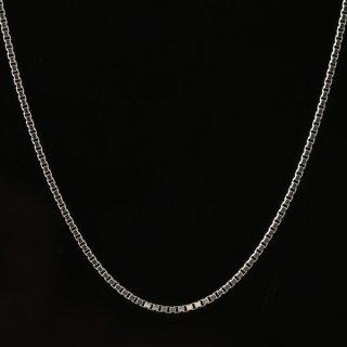 メンズ ネックレス チェーン K18 ホワイトゴールド ベネチアンチェーン 人気 送料無料