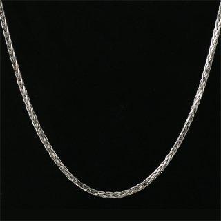 メンズ ネックレス チェーン K18 ホワイトゴールド 編みこみチェーン 人気 送料無料