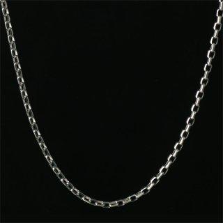 メンズ ネックレス チェーン K18 ホワイトゴールド あずきチェーン 人気 送料無料