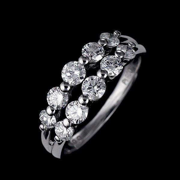 ダイヤモンド プラチナ リング 指輪 ダイヤ 1カラット スイート エタニティ 結婚 婚約 10年目 記念