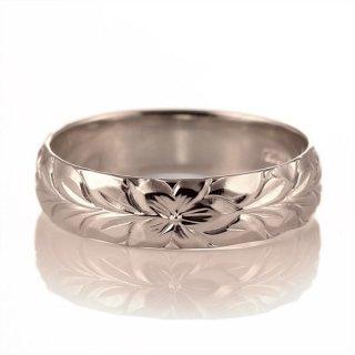 ハワイアンジュエリー 結婚指輪 人気 ピンクゴールド 18金 幅約5mm 指輪 ファッション デザイン マイレ ブランド