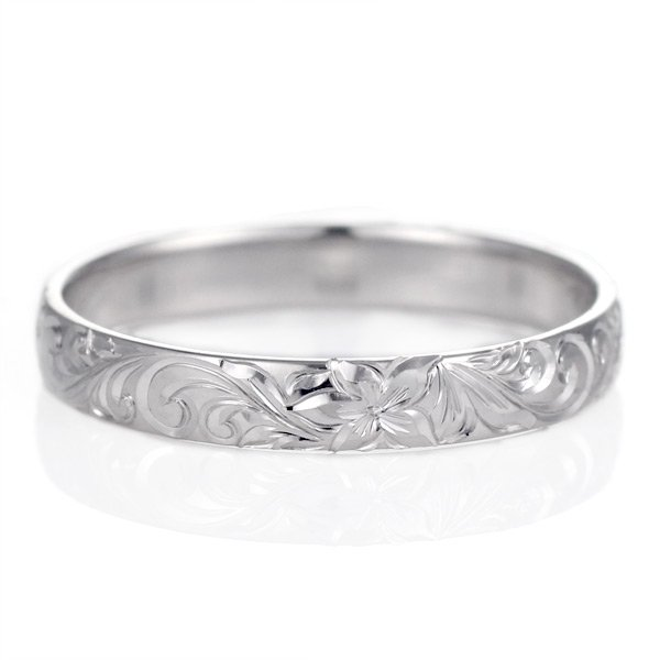 ハワイアンジュエリー ペアリング 人気 シルバー 幅約3mm 指輪 ファッション デザイン スクロール ブランド