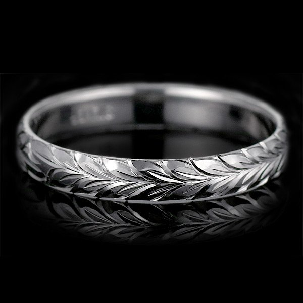 ハワイアンジュエリー ペアリング 人気 シルバー 幅約6mm 指輪 ファッション デザイン マイレ ブランド
