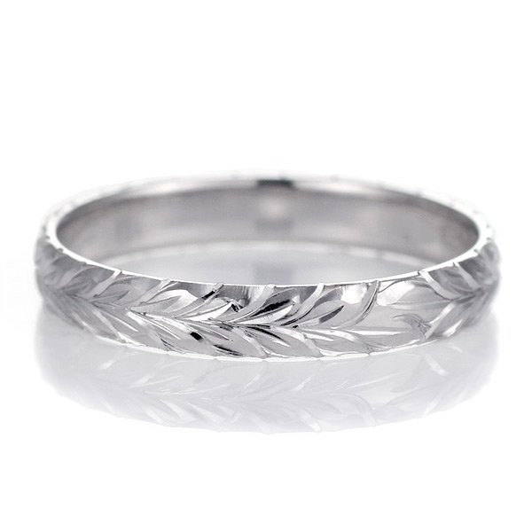 ハワイアンジュエリー ペアリング 人気 シルバー 幅約3mm 指輪 ファッション デザイン マイレ ブランド