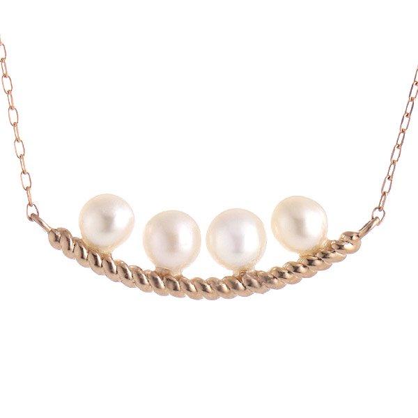 ネックレス K18ピンクゴールド 淡水パール レディース 人気 真珠 プレゼント