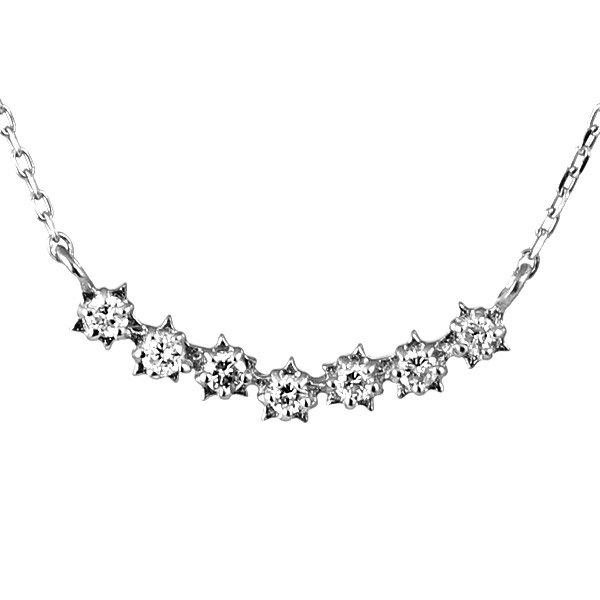 ネックレス ダイヤモンド K10ホワイトゴールド レディース 人気 プレゼント