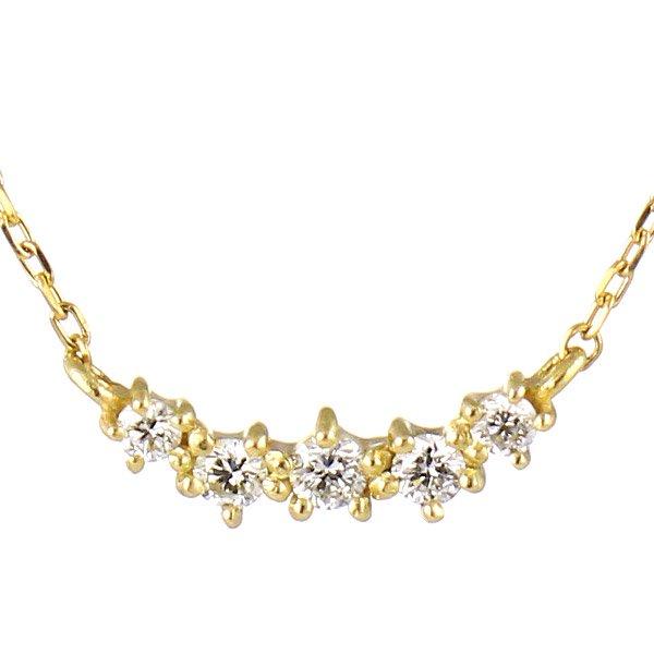 ネックレス ダイヤモンド K10イエローゴールド レディース ダイヤ 人気 プレゼント