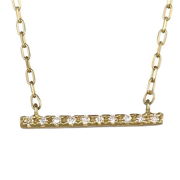 ネックレス ダイヤモンド 10粒 ダイヤ  K10イエローゴールド プレゼント 人気
